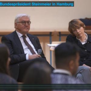 DialogP mit Bundespräsident Steinmeier in Hamburg