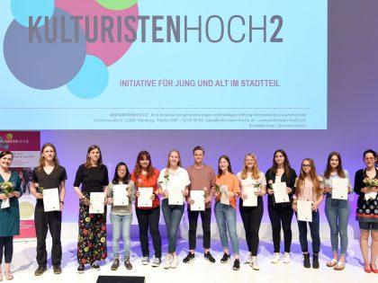 """Feierliche Übergabe der Ehrenamtszertifikate für die """"Kulturisten"""" des Lise-Meitner-Gymnasiums"""