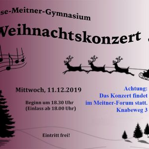 Einladung zum Weihnachtskonzert im Meitner-Forum